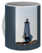Ludington Lighthouse With Ice Coffee Mug