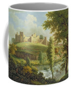 Ludlow Castle With Dinham Weir Coffee Mug by Samuel Scott