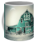 Luna Barn Teal Coffee Mug