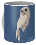 Luna The Rescued White Leucistic Eastern Screech Owl Abstracted Coffee Mug