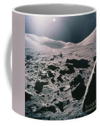Lunar Rover At Rim Of Camelot Crater Coffee Mug by NASA / Science Source