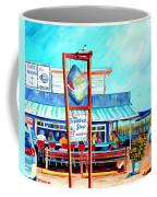Lunch At The Clam Bar Coffee Mug