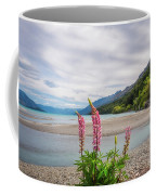 Lupin Flowers In Alpine Scenery At Kinloch, Nz. Coffee Mug