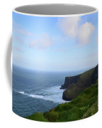 Lush Green Grass Along The Top Of The Cliffs Of Moher Coffee Mug