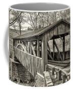 Luther Mills Bridge In Monochrome Coffee Mug