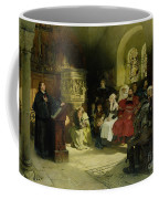 Luther Preaches Using His Bible Translation While Imprisoned At Wartburg Coffee Mug