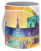 Luxembourg Landmarks Watercolor Poster Coffee Mug