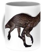 Lycaenops Dinosaur Walking, White Coffee Mug