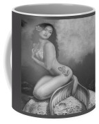 Lydia The Tattooed Mermaid In Black And White Coffee Mug