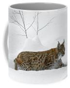 Lynx Hunting In The Snow Coffee Mug