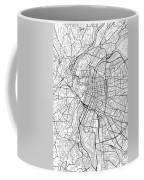 Lyon France Light Map Coffee Mug