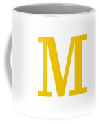 M In Mustard Typewriter Style Coffee Mug