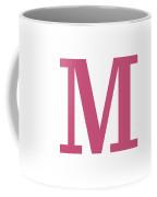 M In Pink Typewriter Style Coffee Mug