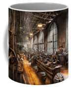 Machinist - A Room Full Of Lathes  Coffee Mug by Mike Savad