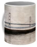 Mackinac Bridge Grunge Coffee Mug