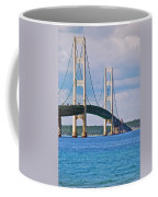 Mackinac Bridge Coffee Mug by Michael Peychich