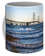 Mackinac Bridge Michigan Coffee Mug by Mary Lee Dereske