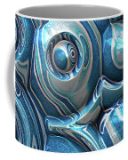 Macro 3d Blue Reflections Coffee Mug