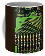 Macro Image Of A Computer Motherboard Coffee Mug by Yali Shi
