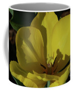 Macro Of A Flowering Yellow Tulip Up Close Coffee Mug