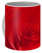 Macro Red Rose Coffee Mug