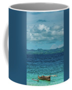 Madagascar, Nosy Be, Small Boat In Sea Coffee Mug