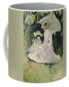 Madame Helleu And Her Daughter At The Chateau Of Boudran Coffee Mug by Paul Cesar Helleu