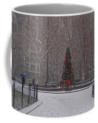 Madison Square Park In The Snow At Christmas Coffee Mug