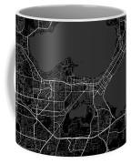 Madison Wisconsin Usa Dark Map Coffee Mug