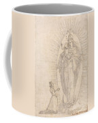 Madonna And Child Appearing To A Supplicant Coffee Mug