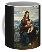Madonna And Child Before A Landscape Coffee Mug