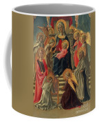 Madonna And Child Enthroned With Angels And Saints Coffee Mug