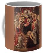 Madonna And Child Enthroned With Saints Fra Filippo Lippi Coffee Mug
