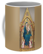 Madonna And Child Enthroned With Twelve Angels Coffee Mug