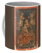 Madonna And Child Seated On A Grassy Bank With Angels Coffee Mug