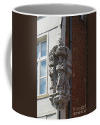 Madonna And Child Statue On The Corner Of A House In Bruges Coffee Mug