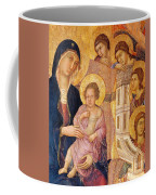Madonna And Child Surrounded By Angels Coffee Mug