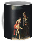 Madonna And Child With A Serpent Coffee Mug by Michelangelo Merisi da Caravaggio