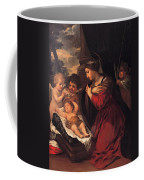 Madonna And Child With Child And Angles Coffee Mug