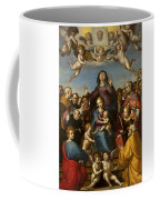 Madonna And Child With Saint Anne And The Patron Saints Of Florence Coffee Mug