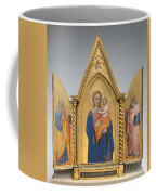 Madonna And Child With Saint Peter And Saint John The Evangelist [middle Panel] Coffee Mug