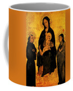 Madonna In Gloria Between Saint Francis And Santa Chiara Gentile Coffee Mug