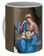 Madonna With The Infant Christ Child Holding A Goldfinch On A String  Coffee Mug