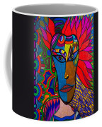 Magdalena On Fire - Mask - Abstract Face Coffee Mug