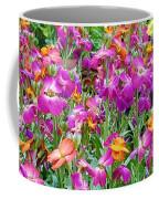 Magenta Floral Pattern Coffee Mug