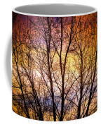 Magical Colorful Sunset Tree Silhouette Coffee Mug