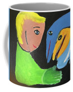 Magical Encounter Between A Boy And Creatures Of The Sea Coffee Mug