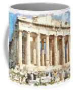 Magnificent Acropolis In Athens Coffee Mug