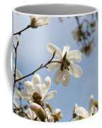 Magnolia Flowers White Magnolia Tree Art 2 Blue Sky Giclee Prints Baslee Troutman Coffee Mug