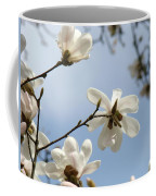 Magnolia Flowers White Magnolia Tree Spring Flowers Artwork Blue Sky Coffee Mug
